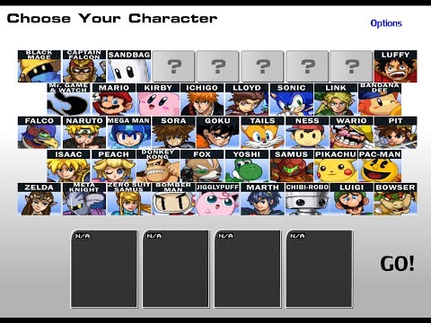 SSF2 Old character select screen NOT A MOD