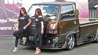 Pick Up Kinclong, yang Ngedeketin Juga yg Kinclong2 (Kontes Modifikasi Mobil pick up indonesia )