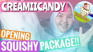 OMGG!! OPENING CREAMII CANDY SQUISHY PACKAGE!! buka squishy package indonesia!