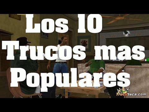 Códigos GTA San Andreas Los 10 trucos claves y codigos mas populares y mejores PS2 PS3 XBOX PC