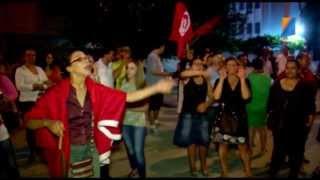 تضامن الشعب التونسي مع الشعب المصري