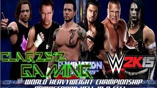WWE 2k15 The Icon Vs Roman Regins Vs Dean Ambrose Vs Brock Lesner Vs B.T. Gunn Vs Jeff Hardy