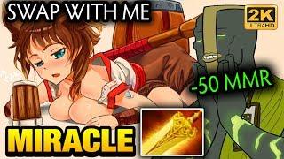 Miracle- ft Kuroky Swap Role is Not a Good Idea Dota 2
