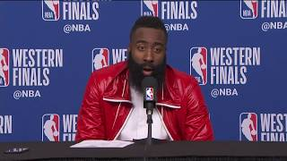 James Harden Postgame Interview   Warriors vs Rockets Game 7