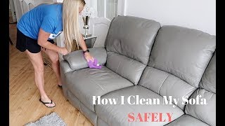 How To Clean A Leather Sofa SAFELY ⚠️