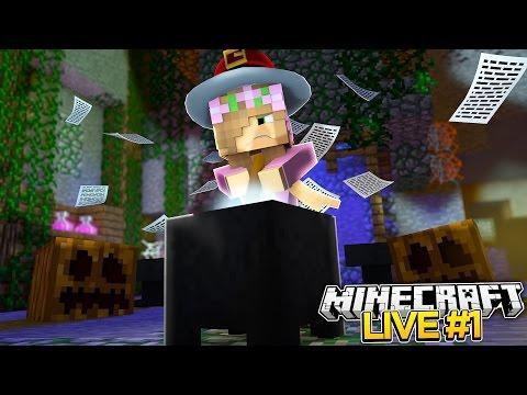Minecraft : LITTLE KELLYS FIRST LIVESTREAM (Halloween Special)