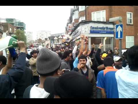 Indians celebrating in london High Road  1 (Aggni..Serving Mankind)