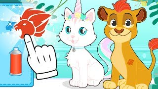BABY PETS 🦄🦁 Kira and Max Dress up as The Lion Guard, My Little Pony, Superpets and More