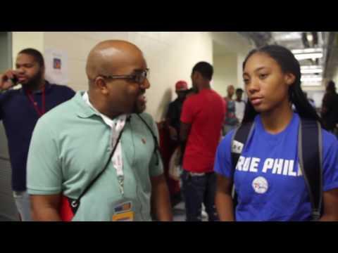 GO4It host Paul Gant at Allen Iverson's Celebrity Basketball Game 2016