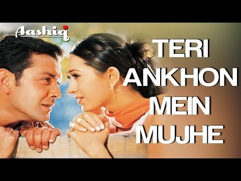 Teri Aankhon Mein Video Song Aashiq Bobby Deol & Karisma Kapoor Alka Yagnik & Udit N