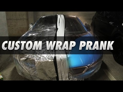WRAPPING JMX'S NEW I8 PRANK!!!!