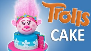 How to Make a Trolls Cake with Edible Hair from Cookies Cupcakes and Cardio