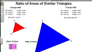 Similar Triangles: Ratio of Areas Video 1