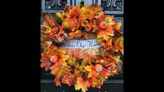 How to make a Dollar tree fall wreath made with rolls