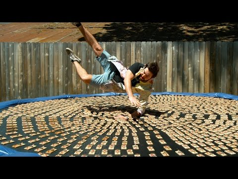 Diving into 1000 Mousetraps in 4K Slow Motion - The Slow Mo Guys