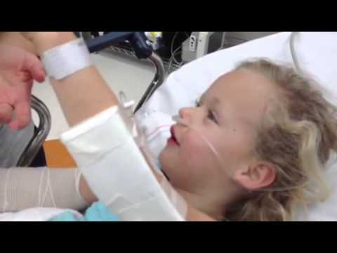 Little 6year old kid comes off anesthesia it s hilarious