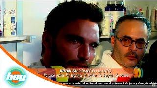 ¡Julián Gil rompe en llanto al hablar de su ruptura con Marjorie de Sousa! | Hoy