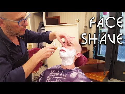 💈 Italian barber - Face Shave - ASMR no talking