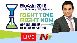 Bio Asia - 2018 International Conference LIVE || KTR || HICC || Day 3 || NTV