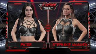 WWE 2K17 Stephanie McMahon VS Paige In A Submission Match