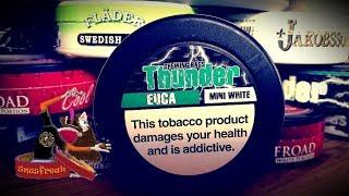 Chewing Bags Marathon#9 - Thunder Euca mini white I Snusfreak.com
