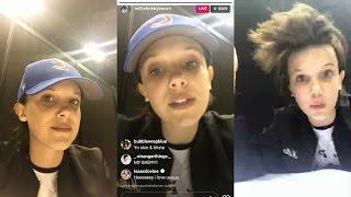 Millie Bobby Brown   Instagram Live Stream   23 April 2017   @ C2E2 - Chicago Comic