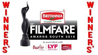 63 Film Awards South 2016   Complete Winners' List (Telugu   Tamil   Malayalam   Kannada)