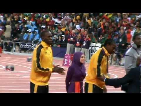Men s 100m Victory Ceremony Olympics 2012 Usain Bolt