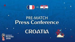 2018 FIFA World Cup Russia™ - FRA vs CRO - Croatia Pre-Match Press Conference