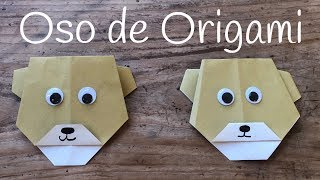 OSO de papel manualidad | ORIGAMI fácil para NIÑOS