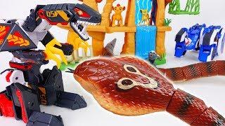 Go Go Geo Mecha RapTor~! Defeat Giant Cobra & Monsters
