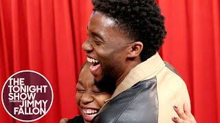 Chadwick Boseman Surprises Black Panther Fans While They Thank Him