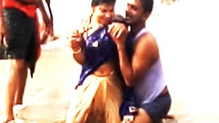 New Couple Enjoy Sea Bathing At PURI Sea Beach