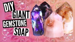 DIY GIANT GEMSTONE SOAP