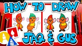 How To Draw Jaq And Gus Gus From Cinderella