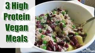 3 High Protein Vegan Meals | Easy, Simple, Affordable