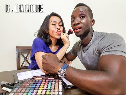 Vlog Suami Belajar Bahasa Indonesia   Istri Belajar Bahasa Prancis   Make-Up Challenge!