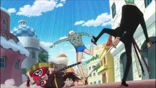 One Piece - Pistol High-Heel! Dellinger kicks Machvise' Ass