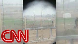 Video shows Israeli sniper shooting Palestinian