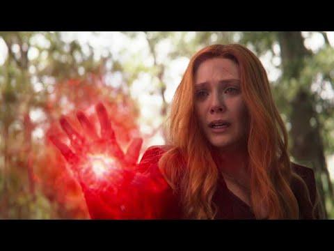 Scarlet Witch kills Vision (Vision's death)  Wakanda team vs Thanos   Avengers Infinity War.