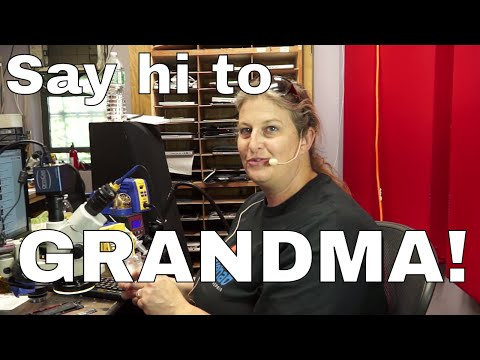 gramma visits the shop to fix an iPhone.