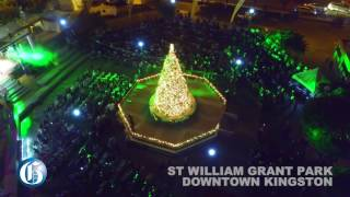 Downtown Kingston glows