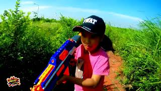 Đồ Chơi Bắn Súng Nerf Cuộc Chiến Siêu Súng : Nerf War Boy Vs Girls