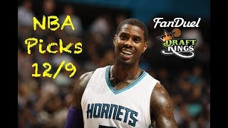 NBA (Fanduel + DraftKings) Picks 12/9