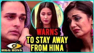 Divya Agarwal WARNS Priyank Sharma To STAY AWAY From Hina Khan | DIVYANK | Bigg Boss 11