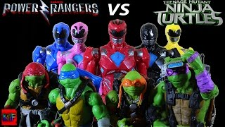 The Power Rangers VS The Teeneage Muntant Ninja Turtles STOP MOTION