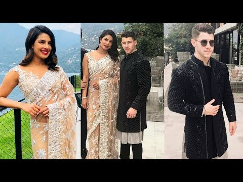 Priyanka Chopra and Nick Jonas look etheral in Trational for their SANGEET ceremony in US
