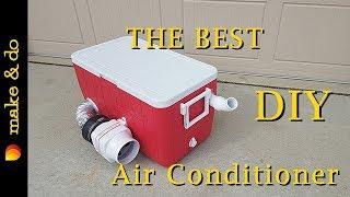 Homemade Portable Air Conditioner DIY - Version 2 - Runs off 12 volt battery, car, or solar!