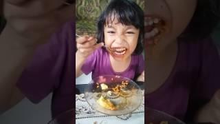 WOWWW,,,,,Anak Umur 5 Tahun Makan Mie Samyang Dan Gak Minum Challenge Kid 5 Years Old Eat Samyang