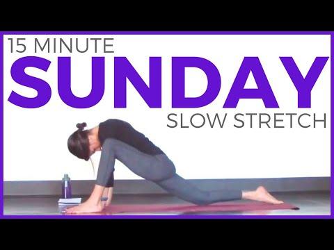 Xxx Mp4 Sunday Slow Stretch Restorative Yoga Routine 7 Day Yoga Challenge 3gp Sex